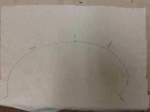 armhole shape tracing