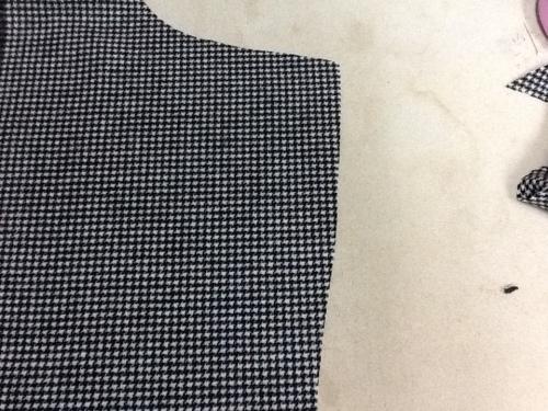 front jacket lapel