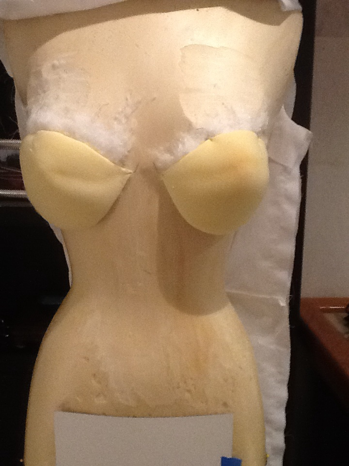 Bust pinned in place
