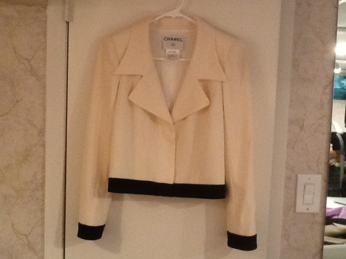 White Chanel Jacket