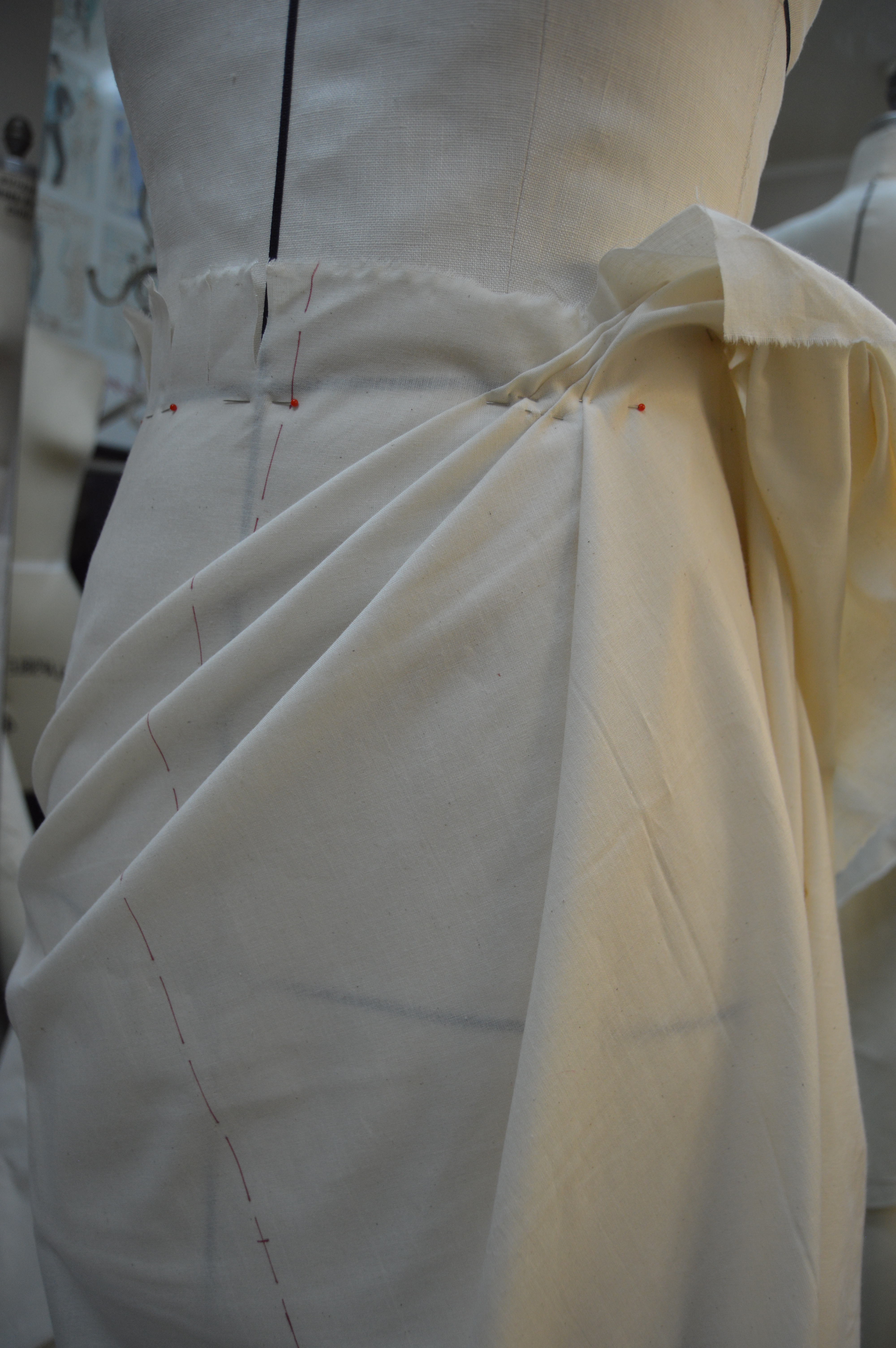 Draping An Asymmetric Skirt Cloning Couture