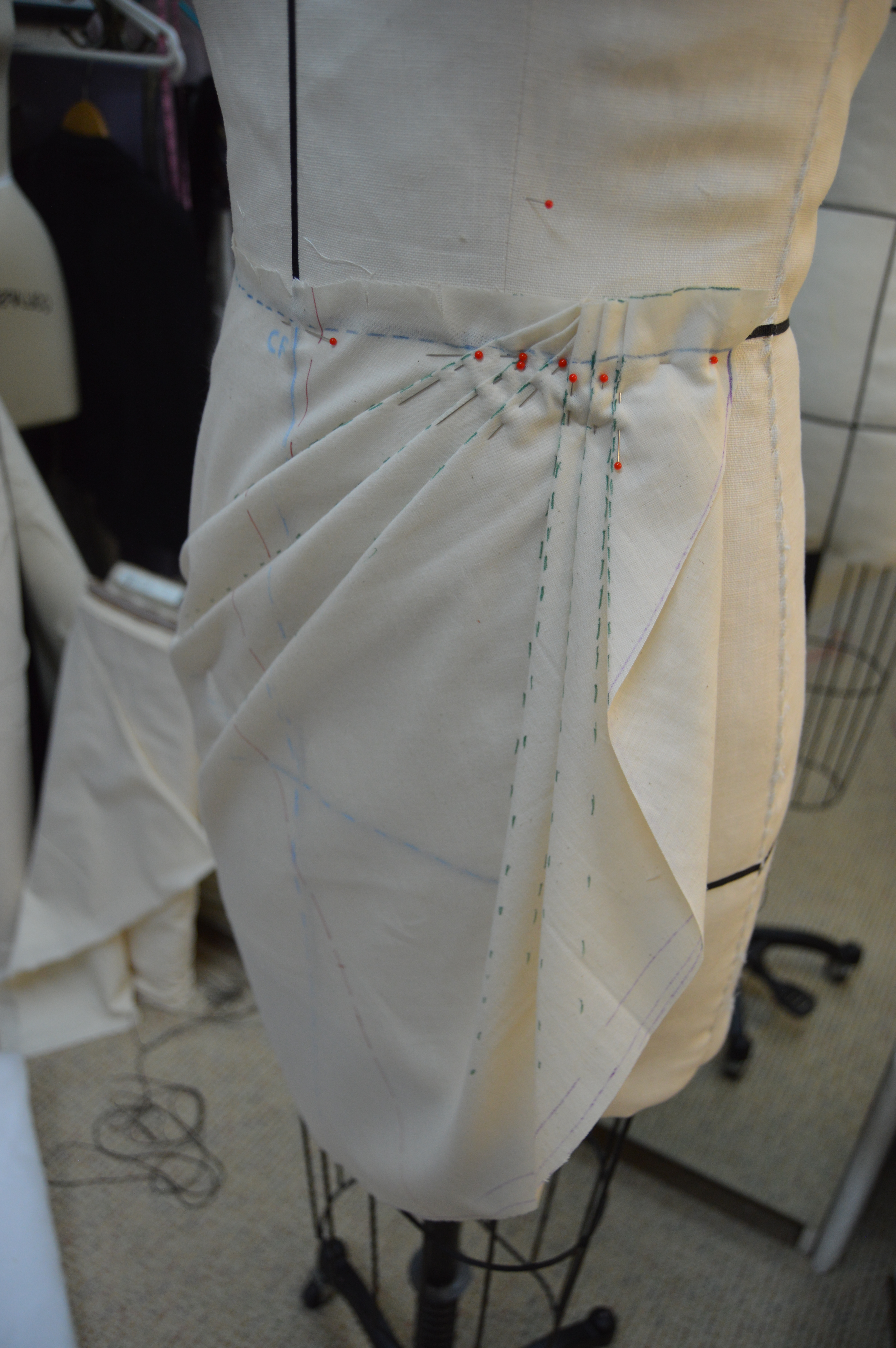 Draping An Asymmetric Skirt Cloning Couture