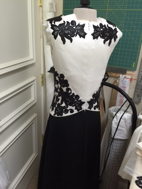 b&w gown back