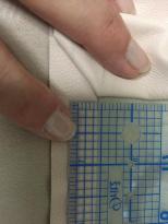 Measure half tape width